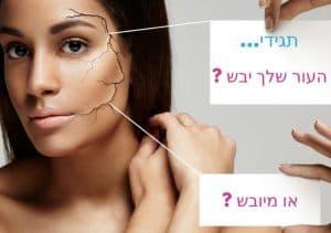 האם אתם סובלים מעור יבש או מיובש? (או שניהם?)
